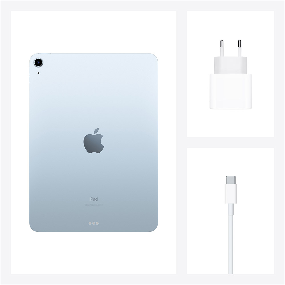 "Планшет APPLE iPad Air 10.9"" 64GB 2020 Wi-Fi (sky blue) (MYFQ2RK/A) Тип матрицы IPS"