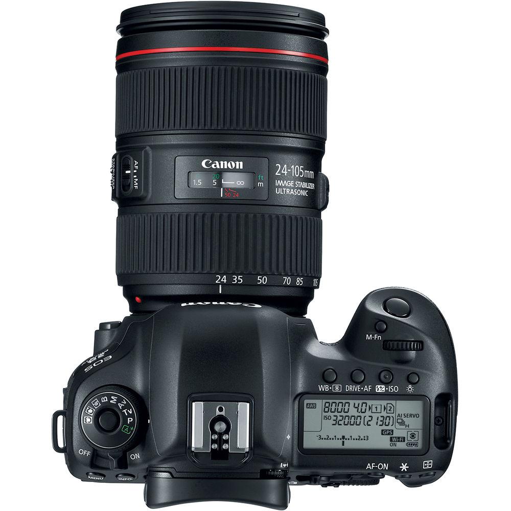 Фотоаппарат CANON EOS 5D Mark IV 24-105L IS II USM KIT (1483C030AA) Тип матрицы CMOS (КМОП)