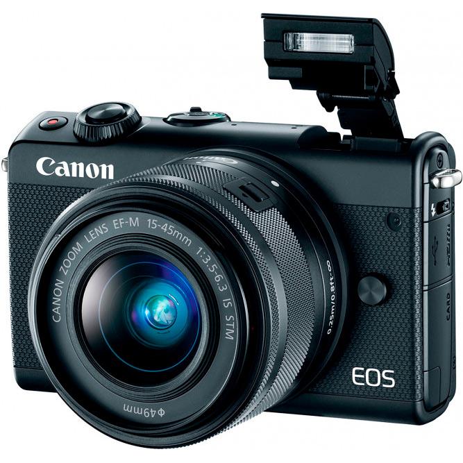 Фотоаппарат CANON EOS M100 15-45 RUK (CSC) Black (2209C048AA) Тип системный