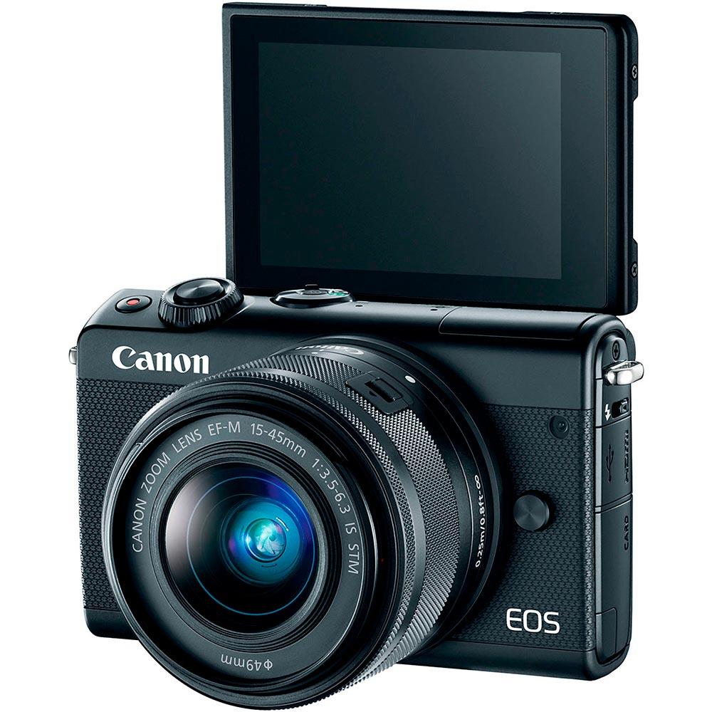 Фотоаппарат CANON EOS M100 15-45 RUK (CSC) Black (2209C048AA) Кол-во эффективных мегапикселей 24