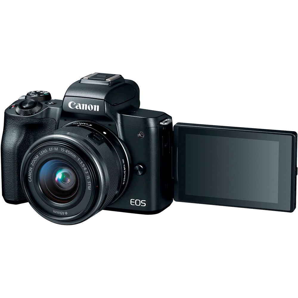 Фотоаппарат CANON EOS M50 EF-M 15-45mm f/3.5-6.3 IS STM Кол-во эффективных мегапикселей 24.1