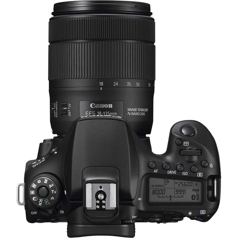 Фотоаппарат Canon EOS 90D EF-S 18-135mm IS USM Kit Black (3616C029AA) Тип матрицы CMOS (КМОП)