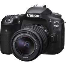 Фотоаппарат Canon EOS 90D EF-S 18-55mm IS STM Kit Black (3616C030AA)