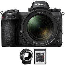 Фотоаппарат NIKON Z 7 + 24-70mm f4 + FTZ Adapter + 64Gb XQD Kit (VOA010K008)