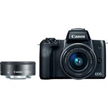 Фотоаппарат CANON EOS M50 + 15-45 IS STM + 22 STM Double Kit Black (2680C055)
