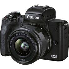 Фотоаппарат Canon EOS M50 Mark II + 15-45 IS STM + SB130 + 16GB SD Kit Black (4728C058)