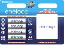 Аккумуляторы PANASONIC Eneloop AAA 750 4BP mAh NI-MH+case