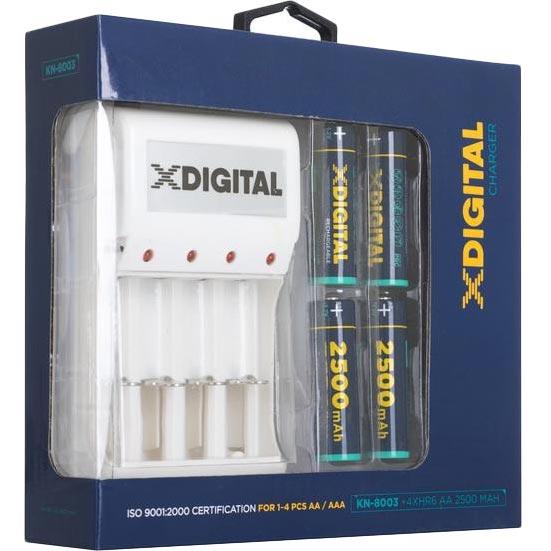 Зарядное устройство X-DIGITAL KN-8003 + 4 АА HR6 Ni-MH 2500mAh