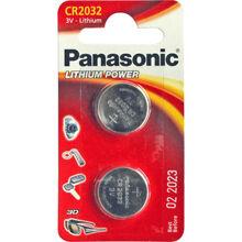 Батарейки PANASONIC CR-2032 Lithium, 3V (CR-2032EL/2B) 2 шт.