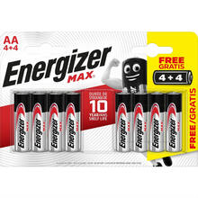 Батарейки ENERGIZER AA MAX 4+4 шт (Е301594800)