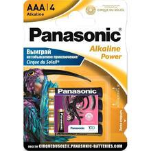 Батарейка PANASONIC LR03 Alkaline Power Cirque Du Soleil 1x4 шт (LR03REB/4BPSCDS)