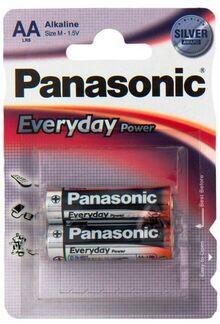 Батарейки PANASONIC LR06 Everyday Power 1x2 шт.