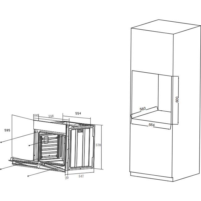 Духовой шкаф HAIER HOX-T11HGB Тип духовки электрическая