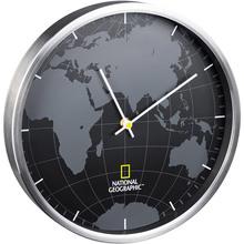 Настенные часы BRESSER World Map Aluminium (9080000)