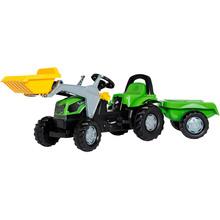 Трактор с прицепом и ковшом Rolly Toys rollyKid Deutz-Fahr 5115 G TB Green (2312)