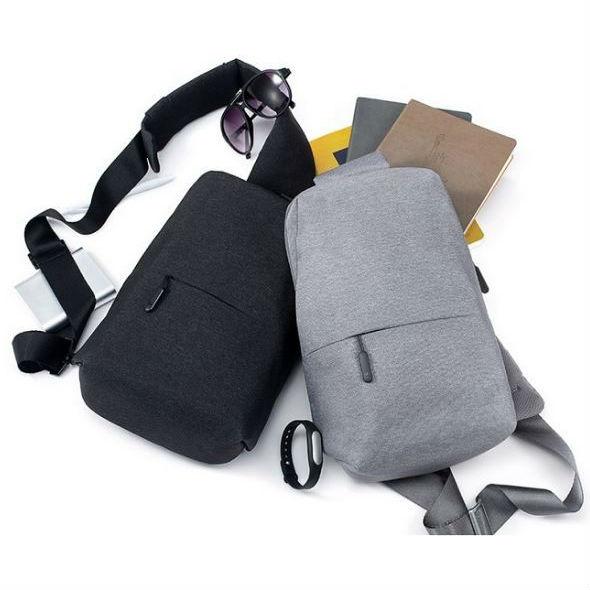 Рюкзак XIAOMI Mi City Sling Bag Light Grey Пол универсальный