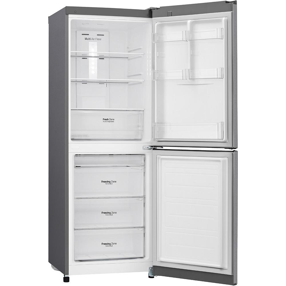 Холодильник LG GA-B379SLUL графіт Морозильна камера нижнє розташування