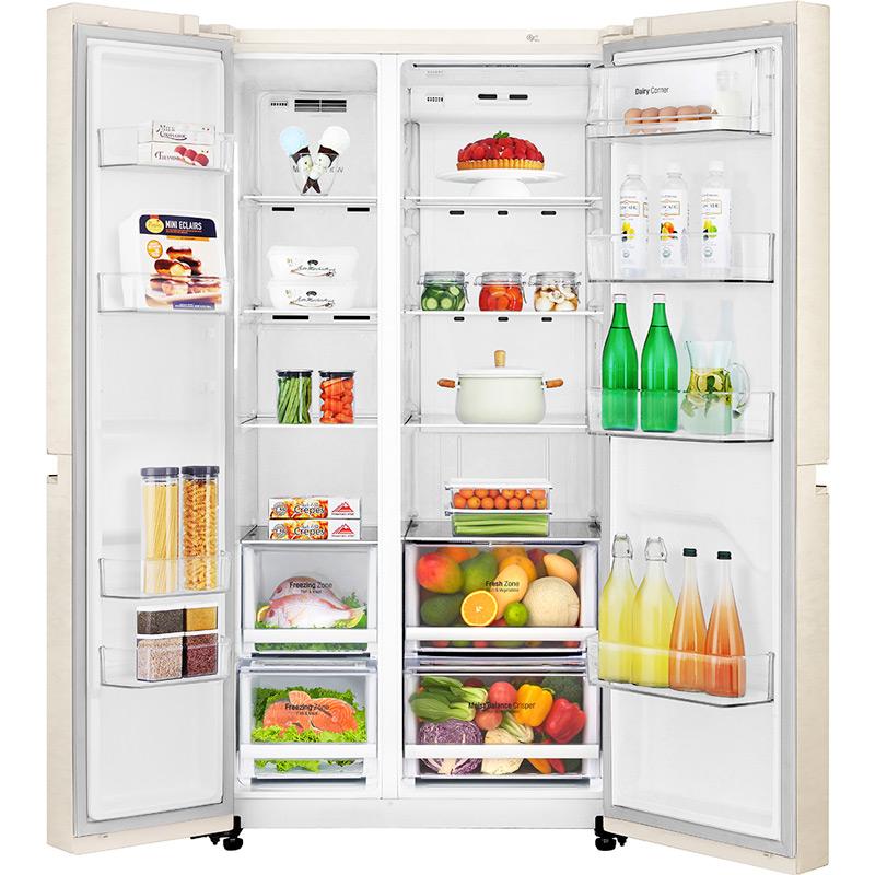 Холодильник LG GC-B247SEDC Морозильная камера боковое расположение