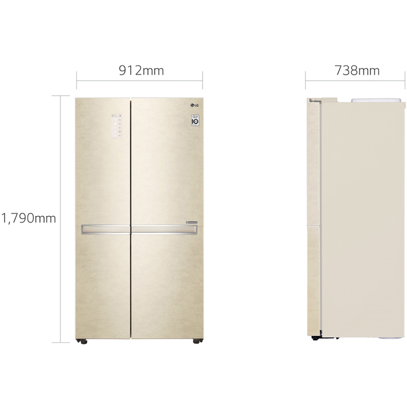 Холодильник LG GC-B247SEDC Тип холодильника SIDE-BY-SIDE