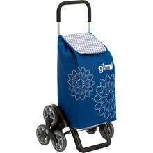 Сумка-тележка GIMI Tris 56 Floral Blue (928419)