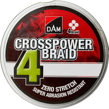 Шнур DAM Crosspower 4-Braid 150 м 0.13 мм 6.8 кг Green (66576)