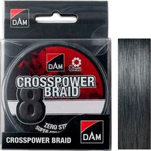 Шнур DAM Crosspower 8-Braid 300 м 0.13 мм 7.2 кг/16 Lb Dark Grey (65848)