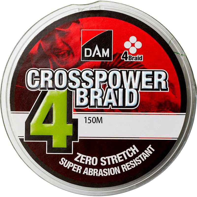 Шнур DAM Crosspower 4-Braid 150 м 0.20 мм 9.9 кг Green (66579)