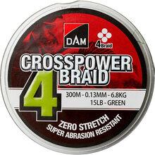 Шнур DAM Crosspower 4-Braid 300 м 0.13 мм 6.8 кг Green (65842)