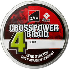 Шнур DAM Crosspower 4-Braid 300 м 0.17 мм 9.0 кг Green (65844)