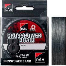 Шнур DAM Crosspower 8-Braid 150 м 0.20 мм 12.6 кг Grey (66590)