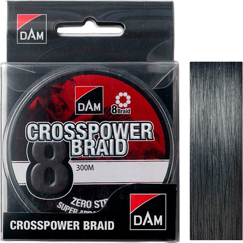 Шнур DAM Crosspower 8-Braid 300 м 0.10 мм 5.4 кг Grey (65847)