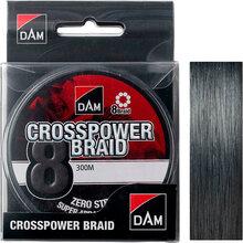 Шнур DAM Crosspower 8-Braid 300 м 0.22 мм 13.5 кг Grey (65852)