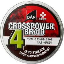 Шнур DAM Crosspower 4-Braid 150 м 0.15 мм 8.1 кг (зеленый)