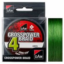 Шнур DAM Crosspower 4-Braid 110 м 0.22 мм 11.3 кг/ 25Lb green