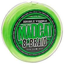 Шнур DAM MADCAT 8-Braid 270 м 0.60 мм 61.2 кг/135Lb green