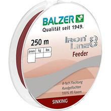 Шнур BALZER Iron Line Feeder 8x Dark Red 250 м 0.10 мм 8.1 кг (12668 110)