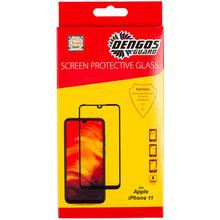 Защитное стекло DENGOS TEMPERED GLASS 5D іРhone 11, black (TGR-53)