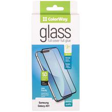 Защитное стекло COLORWAY 9H Full Cover & Glue для Samsung Galaxy A51 Black (CW-GSFGSGA515-BK)