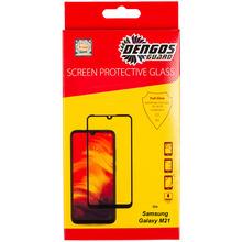 Защитное стекло DENGOS TG Full Glue Samsung M21 black (TGFG-110)