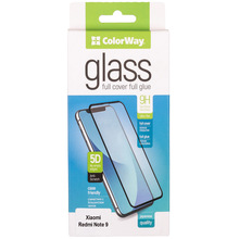 Защитное стекло ColorWay для Xiaomi Redmi Note 9 Black (CW-GSFGXRN9-BK)