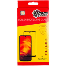 Защитное стекло DENGOS Tempered Glass Full Glue для Xiaomi Redmi 9 Black (TGFG-135)