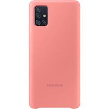 Чехол SAMSUNG Galaxy A51/A515 Silicone Cover pink (EF-PA515TPEGRU)