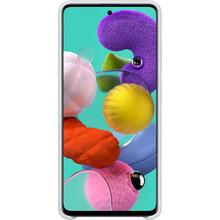 Чехол SAMSUNG Galaxy A51/A515 Silicone Cover white (EF-PA515TWEGRU)