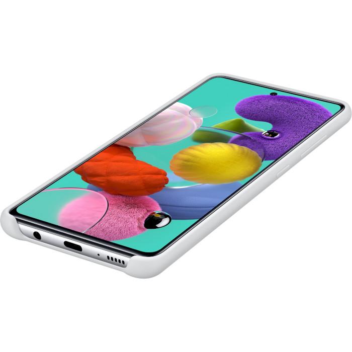 Чехол SAMSUNG Galaxy A51/A515 Silicone Cover white (EF-PA515TWEGRU) Цвет белый