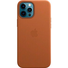Чехол APPLE iPhone 12 Pro Max Leather MagSafe Saddle Brown (MHKL3ZE/A)