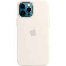 Чехол APPLE iPhone 12 Pro Max Silicone MagSafe White (MHLE3ZE/A)