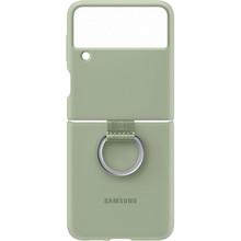 Чехол Silicone Cover with Ring для Samsung Galaxy Z Flip 3 Olive Green (EF-PF711TMEGRU)