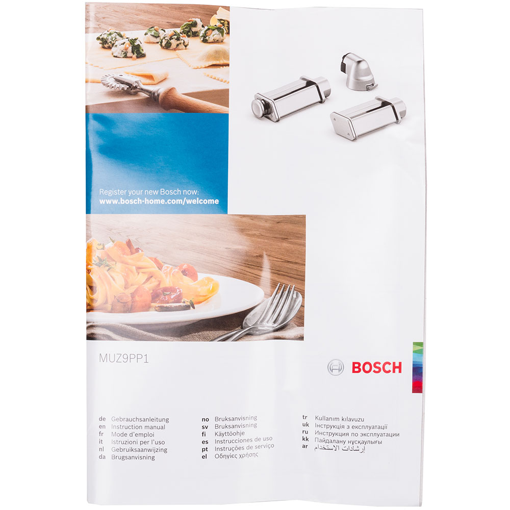 Набор насадок для лазаньи и тальятелле BOSCH Pasta Passion MUZ9PP1 Совместимость с кухонными машинами OptiMUM