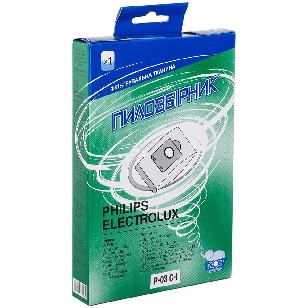 Пылесборник СЛОН м/ р P-03/ El-01 Совместимость по бренду Electrolux