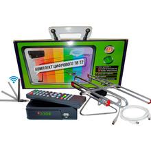 Цифровой тюнер ФОРМАГИБ Т2 + антенна + wifi-адаптер + удлинитель